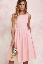 LuLu*s Ambitious Beauty Peach Midi Dress