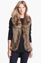 Steve Madden Faux Fur Trim Vest