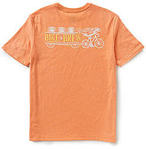 Caribbean Big & Tall Short-Sleeve Bike and Brew Print Screen Print Crewneck Graphic Tee