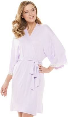 Apt. 9 Women's Solid Laced Cuff Wrap Robe