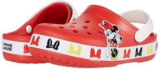 Crocs Fun Lab Disney Minnie Mousetm Band Clog (Toddler/Little Kid) (Flame) Girl's Shoes