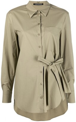 Luisa Cerano Side-Tie Shirt