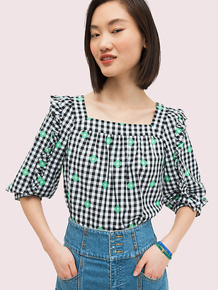 Kate Spade Gingham Voile Top