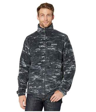 Columbia Steens Mountaintm Printed Jacket (Black Texture Camo) Men's Fleece