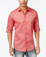 INC International Concepts Men's Roll-Tab Stretch Linen Shirt, Only at Macy's