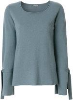 Hemisphere shift knitted top