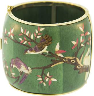Silvia Furmanovich Marquetry Green Bird Bracelet
