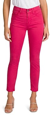 7 For All Mankind Jen7 by Skinny Ankle Jeans in Dusty Rose