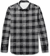 Officine Generale Gab Checked Cotton Shirt