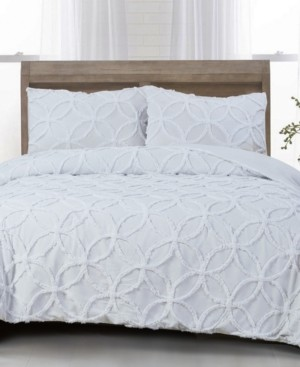 White Birch Wedding Ring Cotton 3-Pc. Tufted Chenille King Comforter Set Bedding