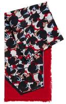 HUGO BOSS Floral Scarf Larrie One Size Patterned