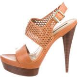 Rachel Zoe Leather Platforms Sandals