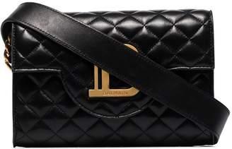 Balmain B-Envelope logo-embellished quilted leather shoulder bag