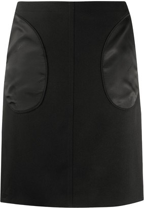 Peter Do Contrast Panel Skirt