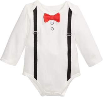 First Impressions Baby Boy's Suspenders Bodysuit