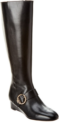 Tory Burch Sofia Leather Wedge Boot