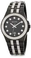 Bulova Crystal Stainless Steel Bracelet Watch