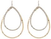 Natasha Accessories 2 Layer Oval Hoop Earrings