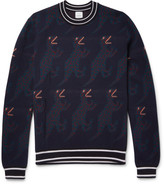 Paul Smith - Dinosaur Intarsia Wool And Silk-blend Sweater