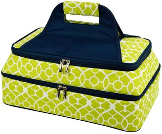 Picnic at Ascot Two Layer Thermal Food Carrier- Trellis
