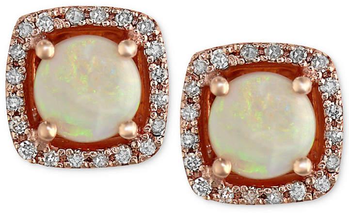 Effy Gemma by Opal (3/4 ct. t.w.) and Diamond (1/8 ct. t.w.) Stud Earrings in 14k Rose Gold