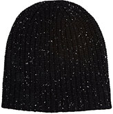 Alex Mill Men's Donegal-Effect Chunky Rib-Knit Cashmere Beanie-BLACK
