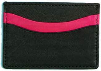 Vida Vida Zing Black and Pink Leather Card Holder