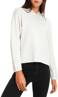 Belle & Bloom Oxford White Cable Knit Hooded Jumper