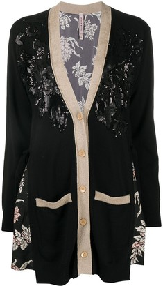 Antonio Marras Oversized Sequined Cardigan