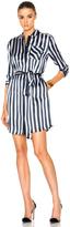 ATM Anthony Thomas Melillo Striped Shirt Dress