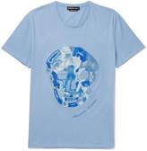 Alexander McQueen Embroidered Cotton-Jersey T-Shirt