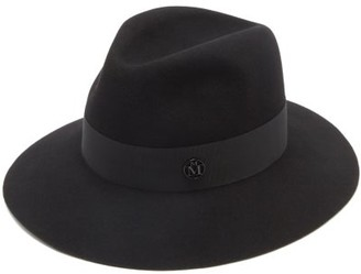 Maison Michel Henrietta Waterproof Felt Fedora Hat - Black