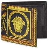 Versace Barocco-Print Framed Leather Bi-Fold Wallet