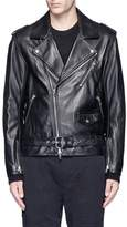 3.1 Phillip Lim Belted lambskin leather biker jacket