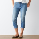 SONOMA Goods for Life Women's SONOMA Goods for LifeTM Faded Cuffed Capri Jeans