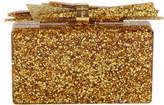Edie Parker Wolf Glittered Acrylic Clutch Bag