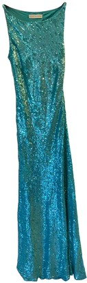 Jenny Packham Turquoise Glitter Dress for Women