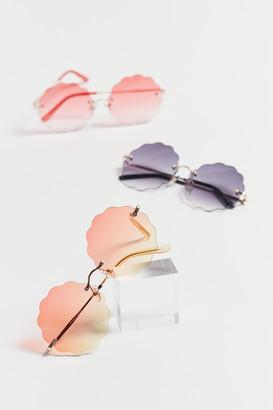 Romy Rimless Round Sunglasses