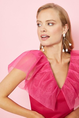 Coast Pearl Abstract Statement Earrings