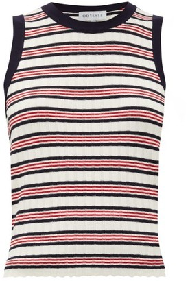 ODYSSEE Liberte Striped Knitted Tank Top - Red Stripe