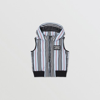 Burberry Detachable Hood Icon Stripe Down-filled Gilet