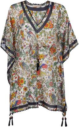 Tory Burch Floral Tassel Detail Tunic
