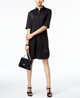 Alfani Petite Bungee-Hem Shirtdress, Created for Macy's