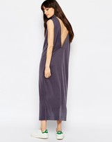 Weekday Value High Neck Midi Dress With Deep V Back