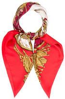 Hermes Marine Et Cavalerie Silk Scarf