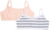 Laura Ashley White & Nude Stripe Comfort Bra
