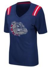 Colosseum Women's Gonzaga Bulldogs Rock Paper Scissors T-Shirt