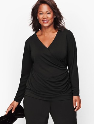 Talbots Knit Jersey Wrap Top