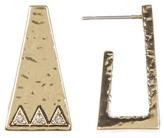 House Of Harlow Pyramid Cuff Stud Earrings