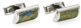Canali Chrysocolla Ceremonial D-Shaped Cufflinks